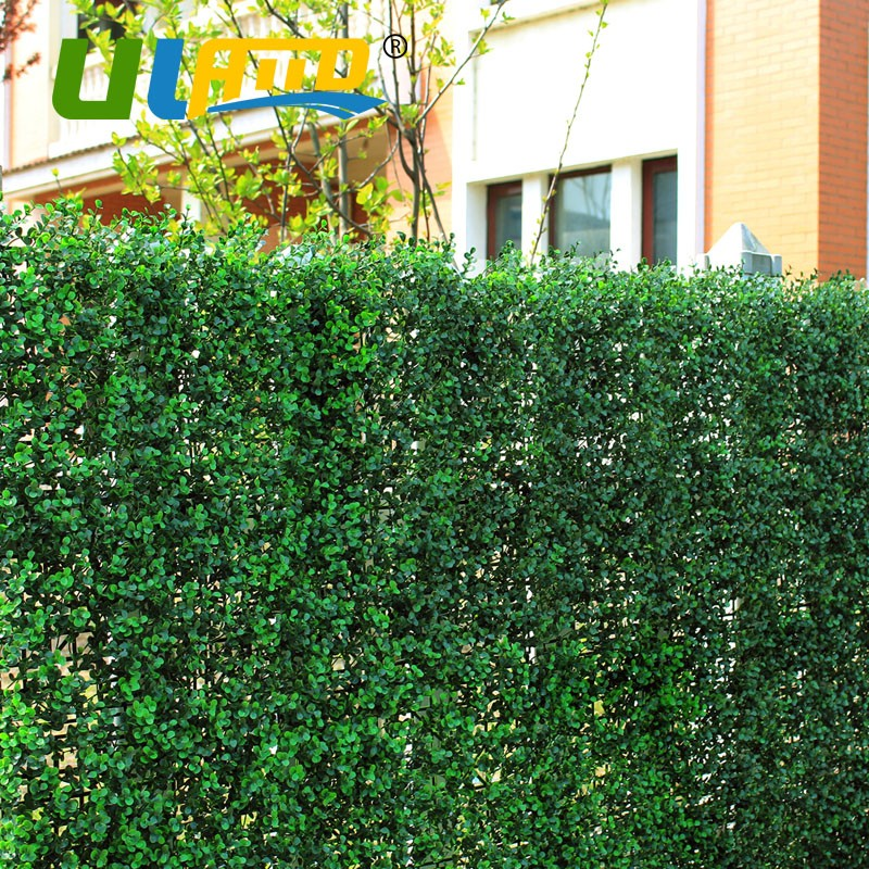 Uland Artificial Boxwood Hedge Light Green Faux Grass