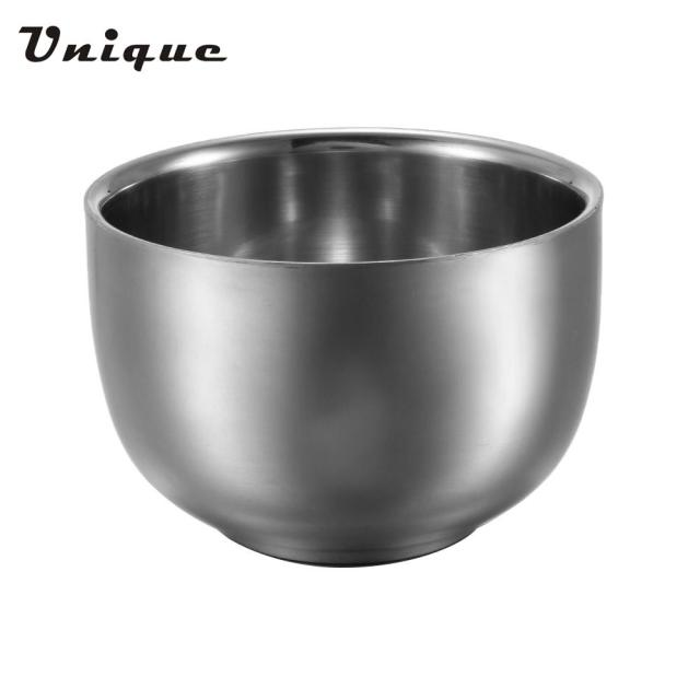 Men's Silver Stainless Steel Shaving Bowl Professional Shaving Tool Barber Beard Razor Cup Male Face Cleaning Soap Mug Tool