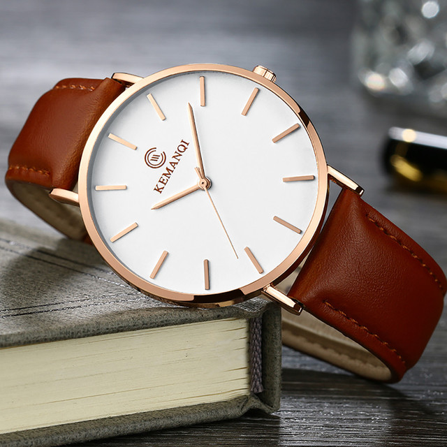 #5001 Fashion Leisure High Quality Man Watchg Couple Fashion Leather Band Analog