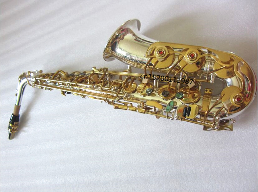 High grade musical instrument Alto Saxophone Eb high quality silver Sax Selmer R-54 hard case free shipping Real picture new selmer 802 nickel plated eb alto saxophone instrument brass sax alto musical instrument professional level dhl ups free