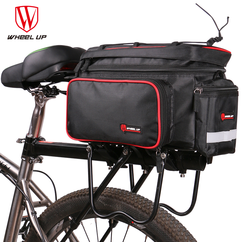 WHEEL UP Cycling MTB Mountain Bicycle Bag Large Capacity Foldable Rainproof Bike Saddle Bags Reflective Trunk Pannier Backpack