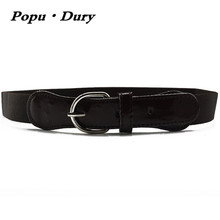 Popu`Dury 2017 New Arrival Unisex Children Belt Casual Solid Style Metal Pin Buckle Belt Children Elastic Belt 70cm-80cm Leagth