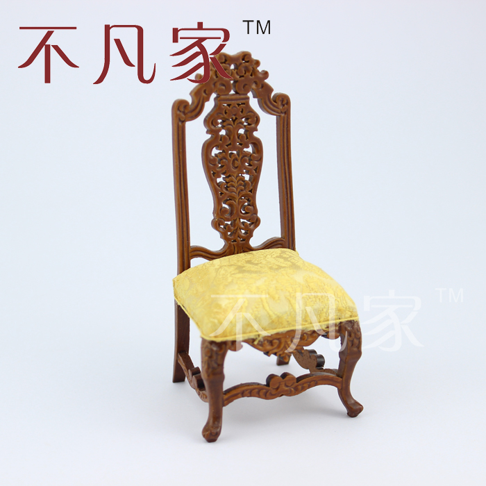 Nice hand carved chair Dollhouse 1/12 scale fine miniature furniture model