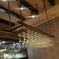 Top rated Wrought iron wine rack wine glass rack wall hanging cup holder wine rack white, matt black, bronze