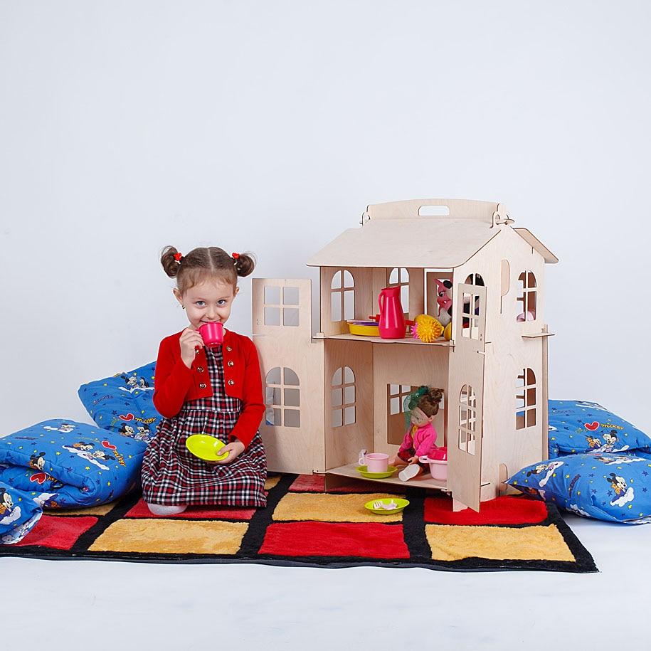 Bambole Giocattoli Casa di casa FAI DA TE Pittura Costruzione Bordo giocattoli Educativi per i Regali per bambini bambola accessorio parte del blocco lol DFB-2d