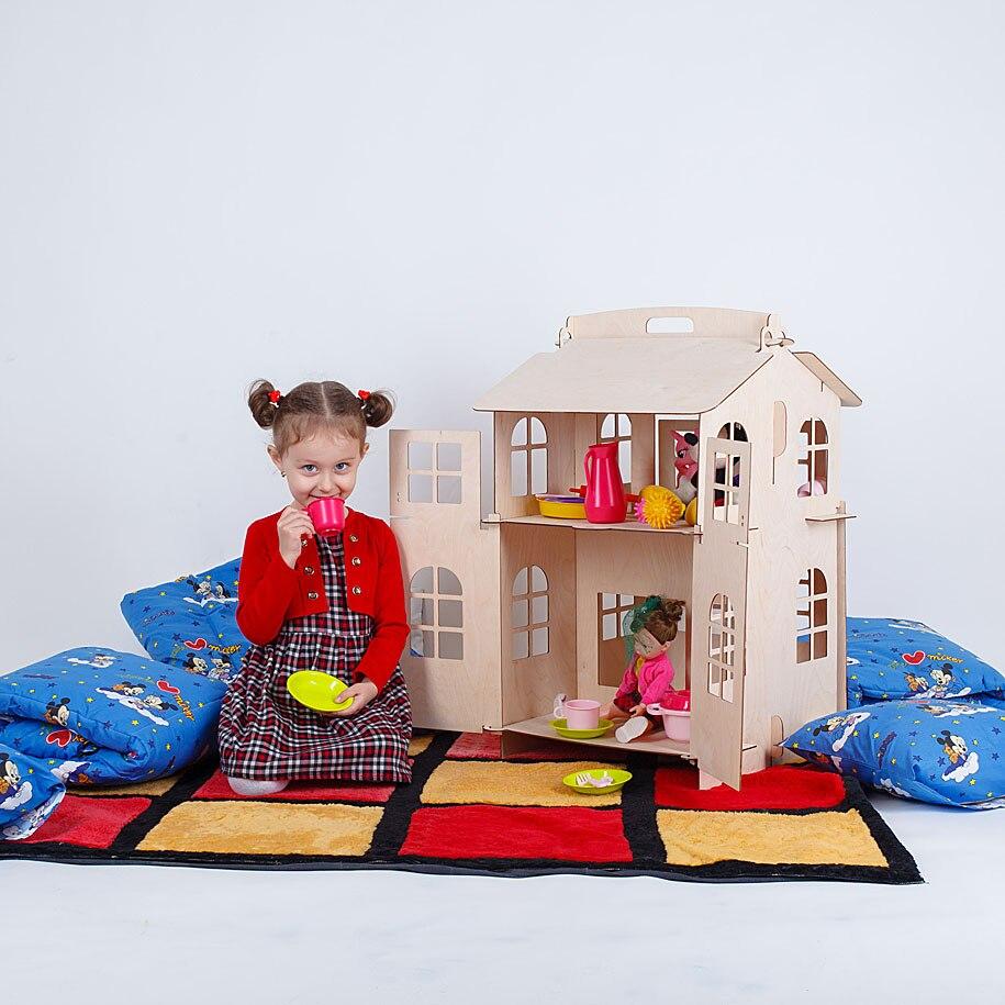 Muñecas casa juguetes casa DIY pintura junta de construcción juguetes educativos para niños regalos muñeca accesorio bloque parte lol DFB-2d