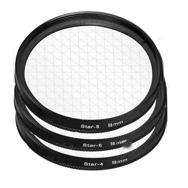 58mm star filter camera lens filter star 4  6  8 cross 4 6 8 point for canon 500d 450d 550d 600d 1000d 1100d 18 55mm lens