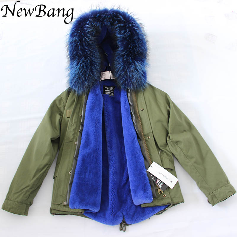 Parkas   For Women Winter With Real Large Raccoon Fur Hood Army Green Thick   Parka   Coats Of Fur 2 in 1 Detachable Lining