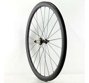 Image 2 - Ücretsiz kargo 700C 38/50/60/88mm derinlik yol karbon tekerlekler 25mm genişlik kattığı bisiklet tek arka tekerlekler UD mat finish