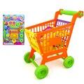 Niños pretend to play el carrito de supermercado carrito de compras kitchen toys