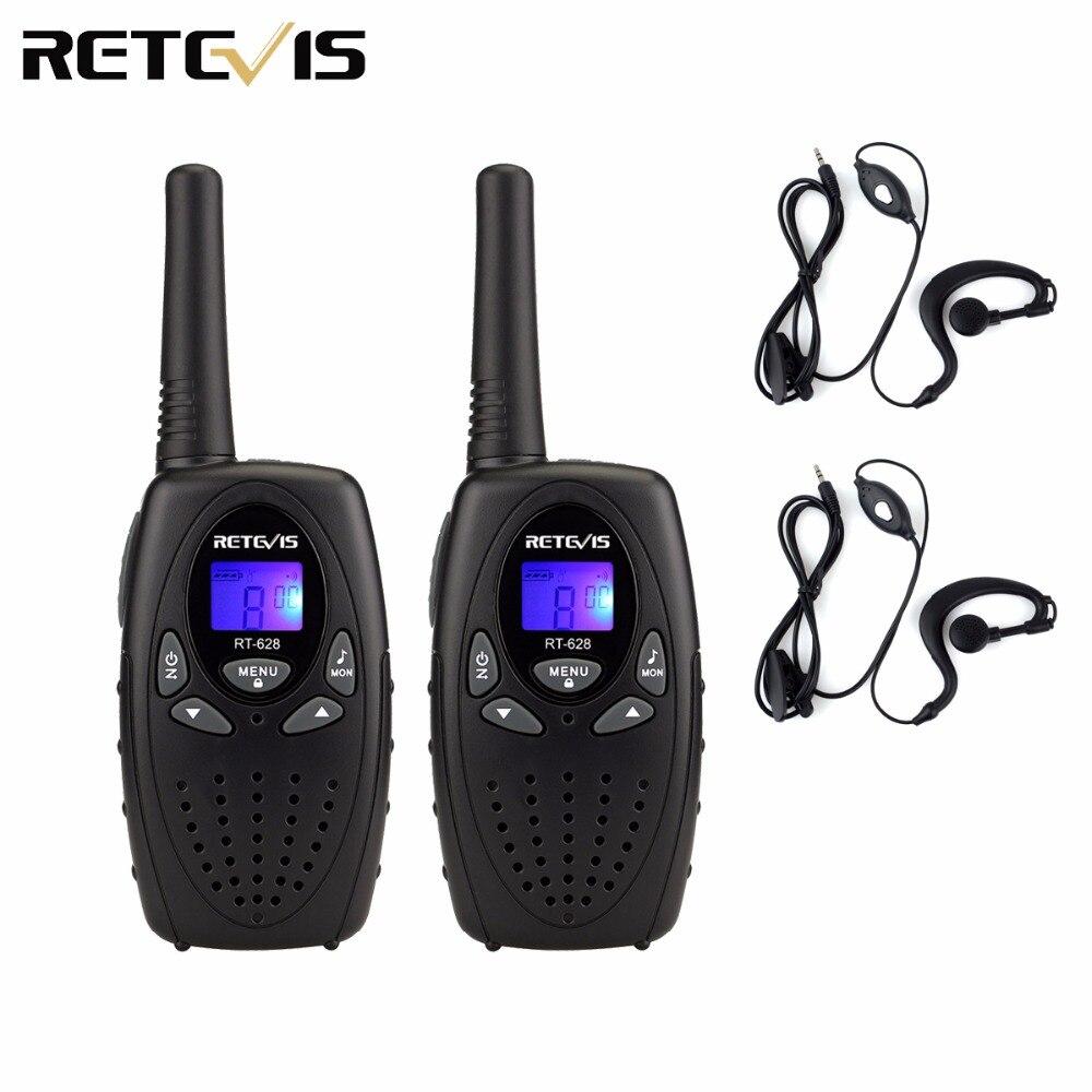 2pcs Earpiece+Kids Radio Walkie Talkie RETEVIS RT628 0.5W UHF 446MHz Frequency Ham Radio Hf Transceiver A1026B