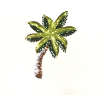 Korean Style plant flowers sequins coconut tree embroidery patch,diy decorative stickers,iron on patches