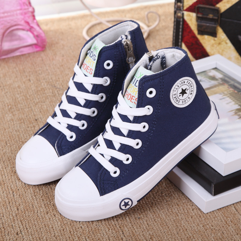 2016Unisex Boy Girls fashion font b sneakers b font Summer Kid skid resistance sole Canvas shoes