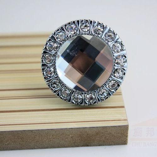 Hot Sale Clear Crystal Glass Cupboard Pull Handle Wardrobe