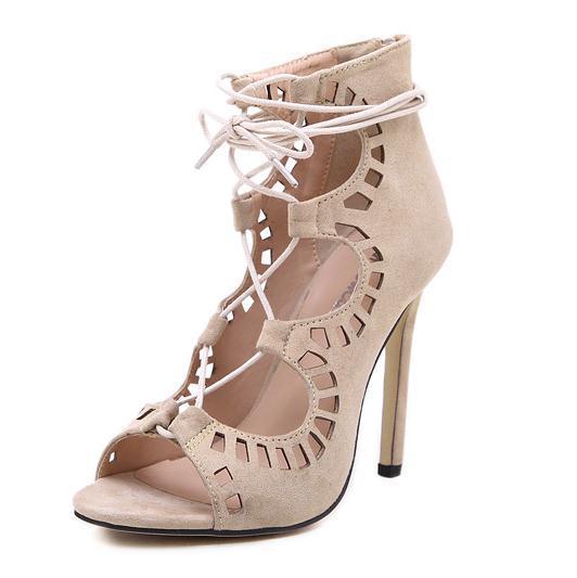 Rouge Dentelle-up Dames Pompe Chaussures Bout Pointu Sexy Mature Style  printemps OL Chaussures Talons hauts Pompe Femmes Plus Taille EU43 Stilettos de5f56994d4
