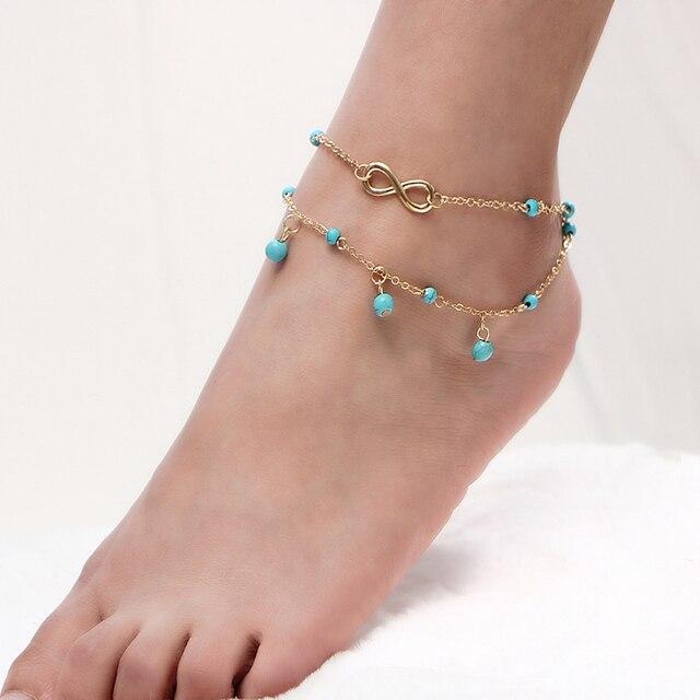 Vintage Anklets For Women Bohemian Ankle Bracelet Cheville Barefoot Sandals  Pulseras Tobilleras Foot Bracelet Jewelry Halhal 2abc0e814de6
