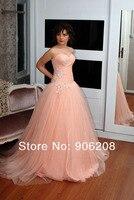 Dlass Sexy Beading Lace Orange Prom Dresses 2019 A Line Sweetheart Neck Tulle Evening Party Gown vestidos de fiesta de noche