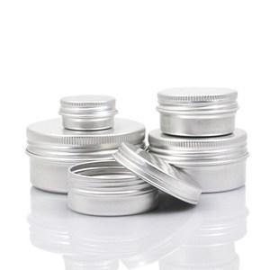 51015 30 60 100 150 200 250 ml aluminium cream jar Aluminum Jar Makeup Cases Makeup Box Empty Sample Jars Container for packing