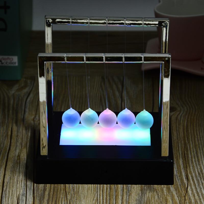 Shinning Newton bölcsőegyensúly labda fizika tudomány inga ovális alap ív állvány acél golyó gyerekek oktatási íróasztal lakberendezés