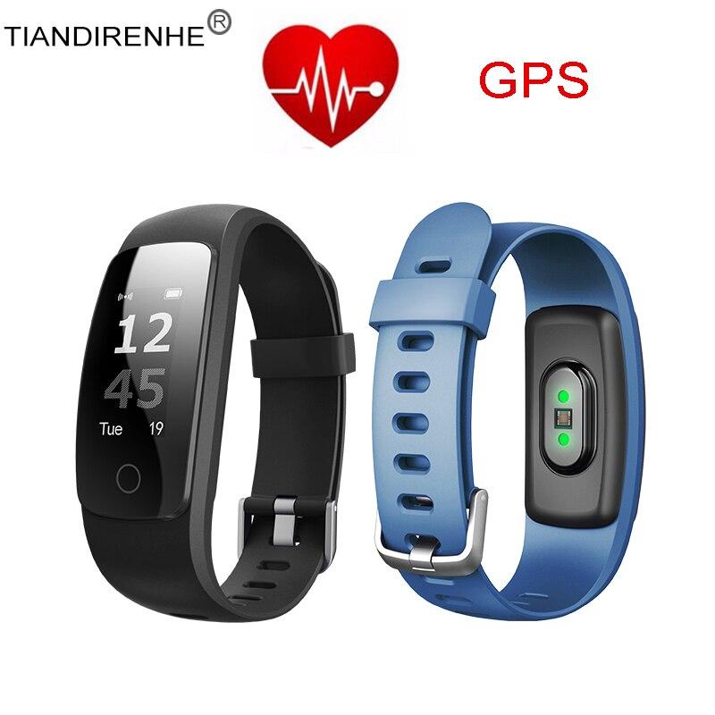 Tiandirenhe GPS Smart Band ID107 Plus Fitness Bracelet Activity Sports Tracker Wristband Cicret Bracelet Heart Rate