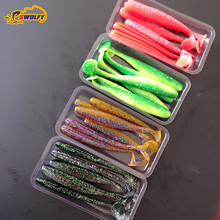 24 pcs 5g 10cm maggot Grub Soft Lure Protein Soft Bait Worm Fishing Lures