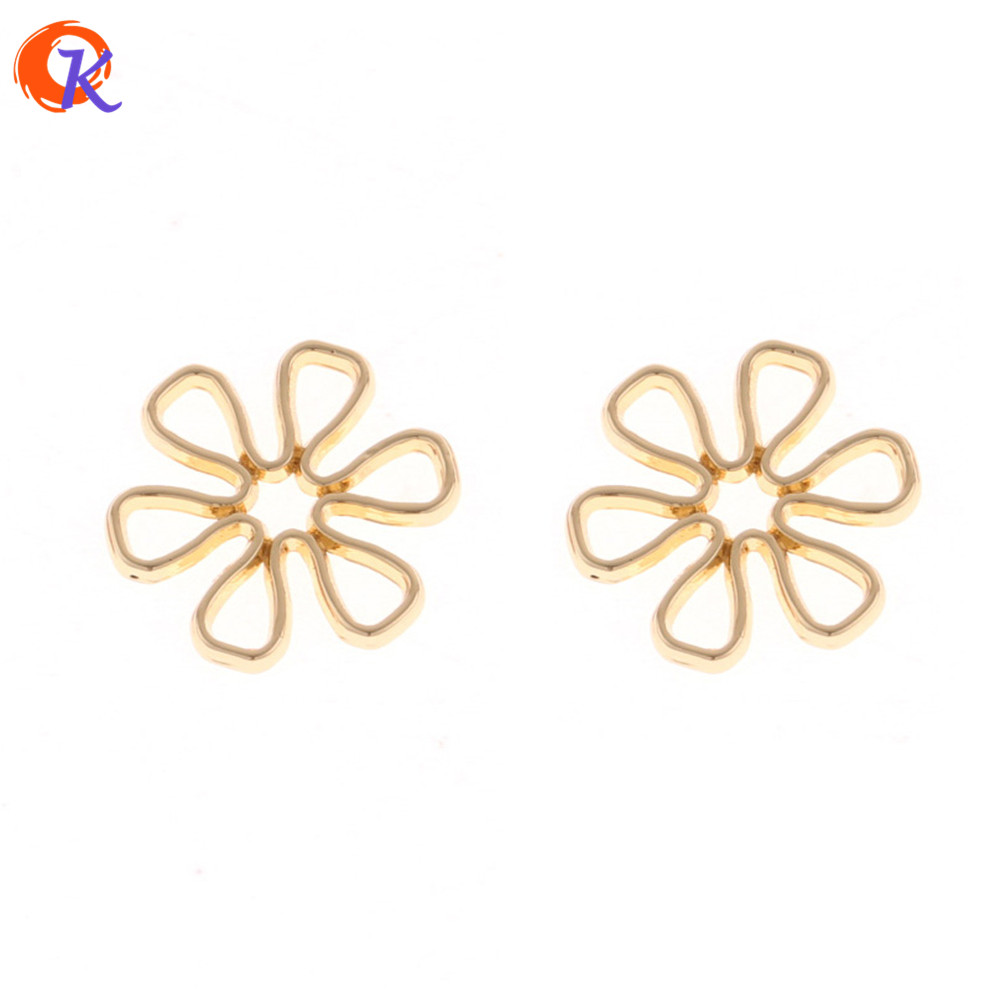 Cordial Design 100Pcs/Lot 15MM Jewelry Accessories/DIY/Hand Made/Gold Flower Shape/Earrings Base Making/Earring Findings