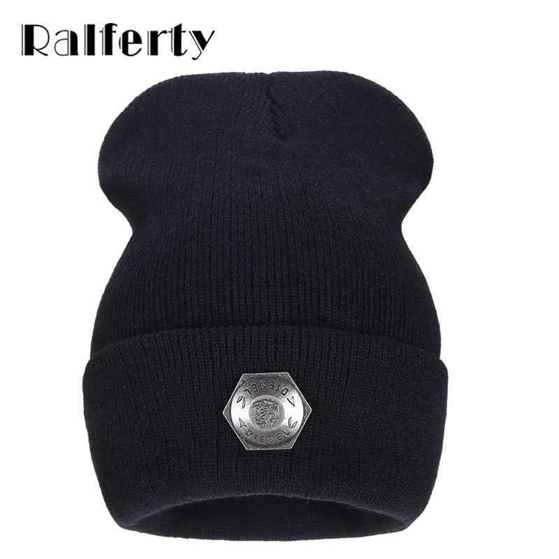 Ralferty Winter Hats For Men Beanies Caps women Chapeu Toca bonne gorras gorro bonnet Women woolen Cap Black Hat hexagonal men winter hat beanie gorro gorros de lana gorras chapeu cap skullies beanies masculino casquette toca hats warm bonnet w0