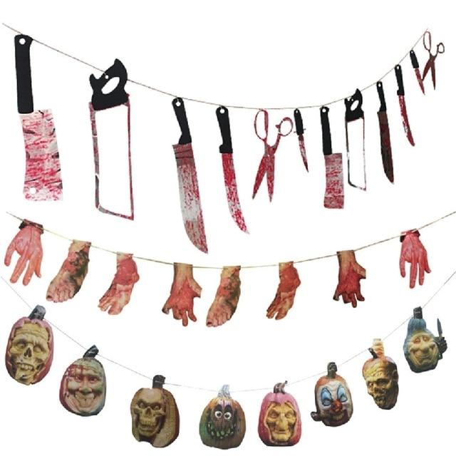 8 stile Halloween Blooding Messer Hand Fuß Party Spukhaus Hängen ...
