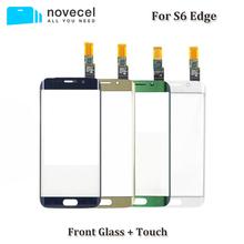 G925 ekran dotykowy Digitizer dla Samsung Galaxy S6 krawędzi G9250 G925F wymiana panelu szklanego czujnika dotyku do naprawy części tanie tanio iinsumo AMOLED for samsung Pojemnościowy ekran 2560x1440 Nowy 3