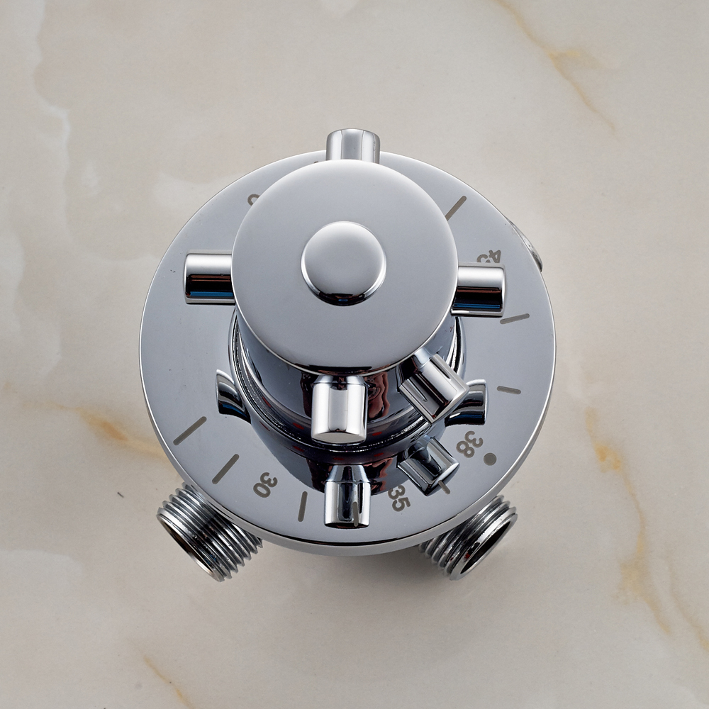 Chrome Finished Wall Mounted Thermostatic Shower Faucet Mixer Valve chrome finished wall mounted thermostatic shower faucet mixer valve