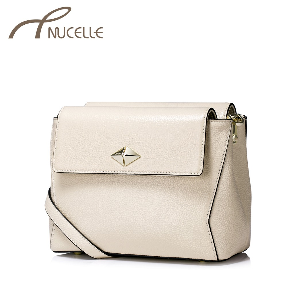 ФОТО NUCELLE Women Genuine Leather Crossbody Bags Ladies Leisure Cowhide Shoulder Bags Female Brief Small Messenger Bags NZ5878