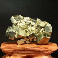 Peru exquisite natural crystalline pyrite ore mineral specimens perfect crystal face bright ornaments Collection 20