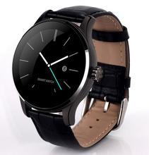 Neue K88H Smart Uhr 1,22 Zoll IPS Runden Bildschirm Unterstützung Pulsmesser Bluetooth smartWatch Für apple huawei IOS Android