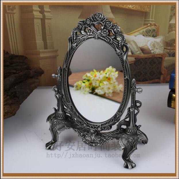 European retro makeup mirror desktop mirror makeup tools home decoration mirror wedding decoration mirrors J028