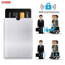 10 Uds. Fundas de bloqueo RFID antirrobo Protector de tarjeta RFID manga de bloqueo antirrobo de identidad protección de manga de tarjeta de escaneo
