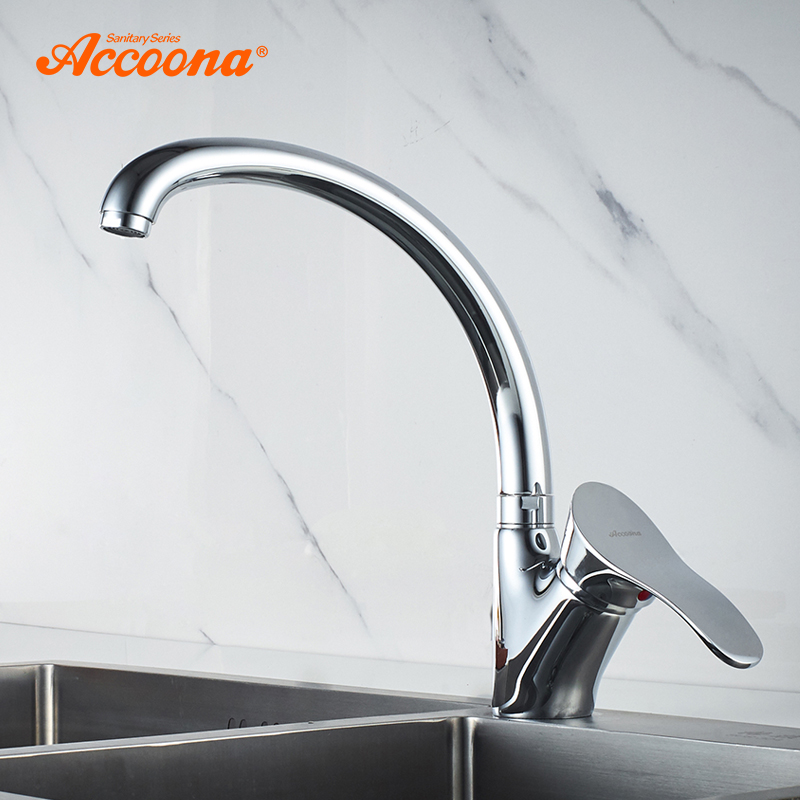 Accoona Kitchen Faucet Solid Brass Hot and Cold Water Tap Kitchen Basin Sink Faucets Single Handle Water Mixer Tap Crane A4005 цена 2017