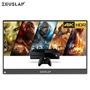 Image 5 - Monitor portátil de 15,6 pulgadas 4K + HDR NTSC 72% IPS, USB C HDMI para Switch Xbox One PS4