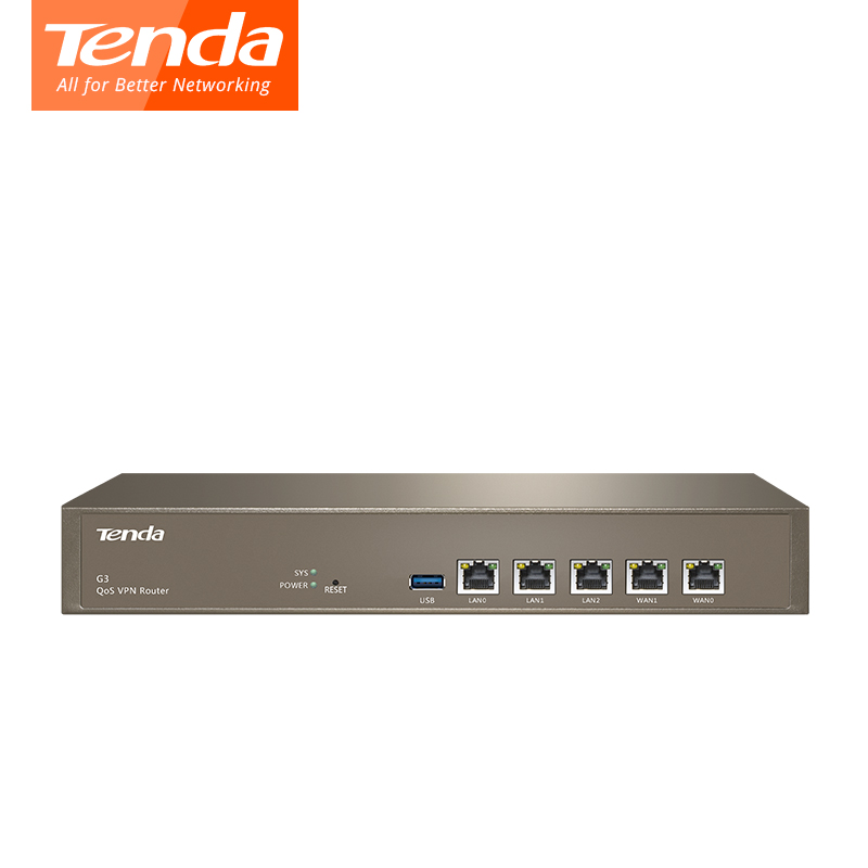 Tenda G3 Wireless Repeater Qos VPN Router PPTP L2TP IPSec 800MHz Multi WAN Ports roteador for