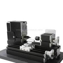 Metal Mini Lathe Machine DC12V/2A/24W,12000r/min 110V-240V saw Workbench area 90*90mm CNC Mini Lathe Machine Tool metal plate