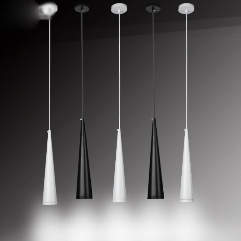 LED modern restaurant lamp front bar bedside bedroom corridor creative personality Black single head cone pendant lamps lighting free deliverythe the new clover pendant glass piaochuang tiffany bar creative personality corridor lamp simple modern lighting