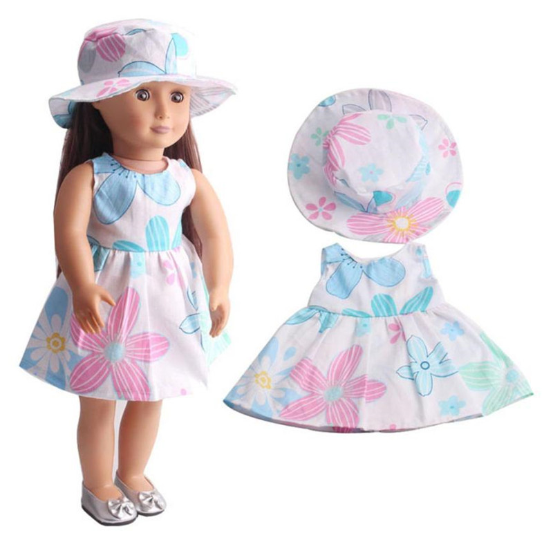 18 doll accessories High-Quality Skirt&Hat For 18 inch Our Generation American Girl Doll toys for children K3