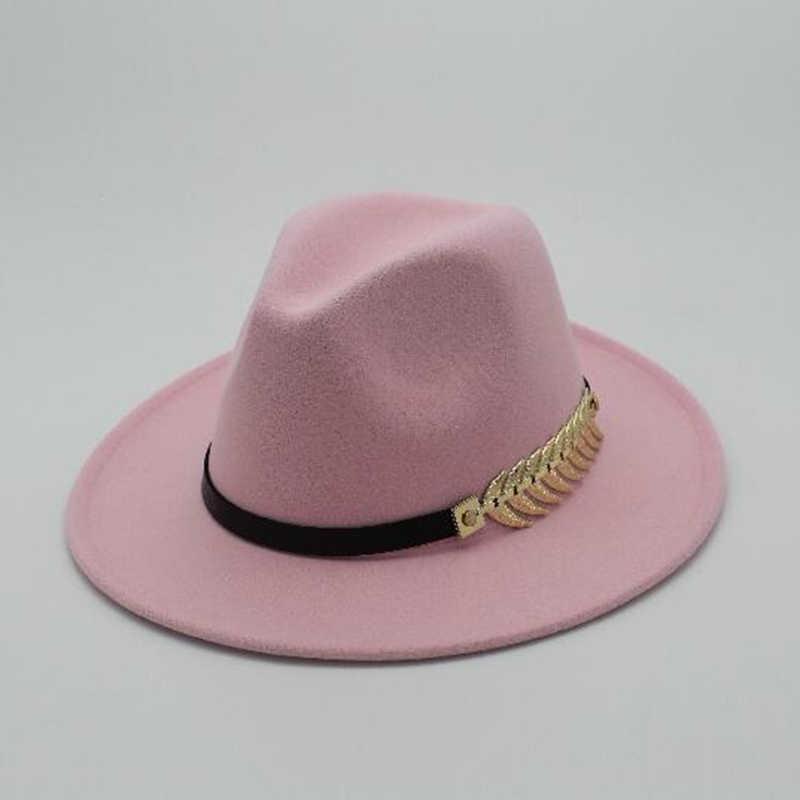 3214e2659b1ff3 ... Special Felt Hat Men Fedora Hats with Belt Women Vintage Trilby Caps  Wool Fedora Warm Jazz ...