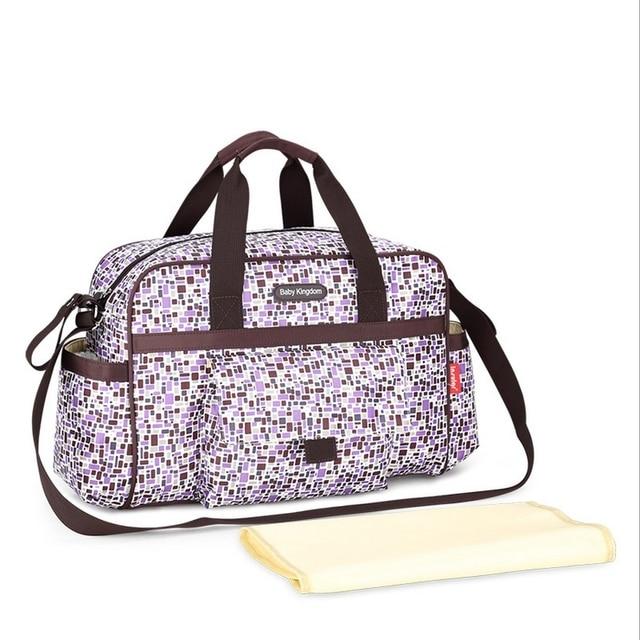 New Colorful Plaid Baby Diaper Bag Large Capacity Changing Mat Mummy Handbag Maternity Shoulder Ny Stroller