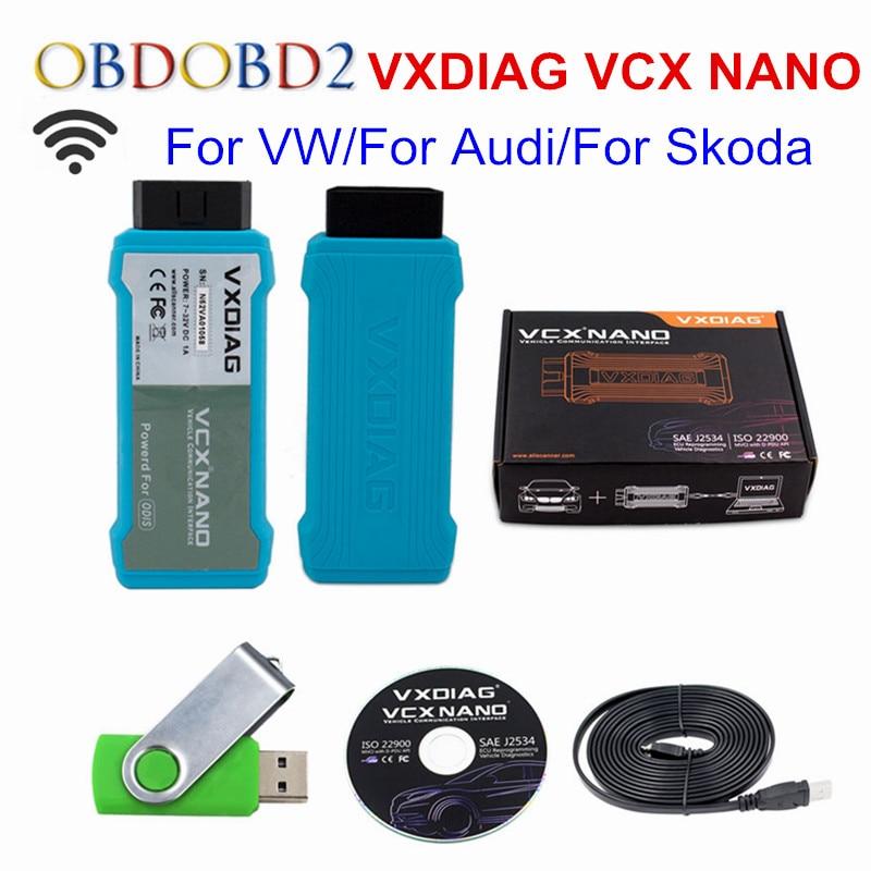 VXDIAG VCX NANO WIFI Version ODIS 4.3.3 VXDIAG For Audi/For VW/For Skoda/For Seat Newest VCX NANO VXDIAG OBDII Diagnostic Tool vxdiag vcx nano for land rover for jaguar software ssd v141 for all protocols for jlrids v141 free update