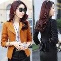2016 summer women blazers plus fashion female blazer ol candy suit ladies office coat maxi