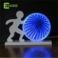 Presentes inovadores de Mudança de 7 Cores Despertador USB Conduziu a Lâmpada de Luz Bebê Dormir NightLight como Crianças Quarto Além de Lampara