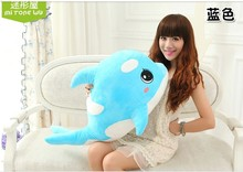 big size lovely plush dolphin toy blue creative plush dolphin doll gift doll about 75cm