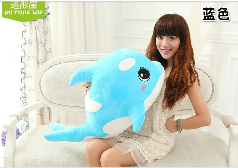 big size lovely plush dolphin toy blue creative plush dolphin doll gift doll about 70cm 0194 stylish colorful round mirrored sunglasses