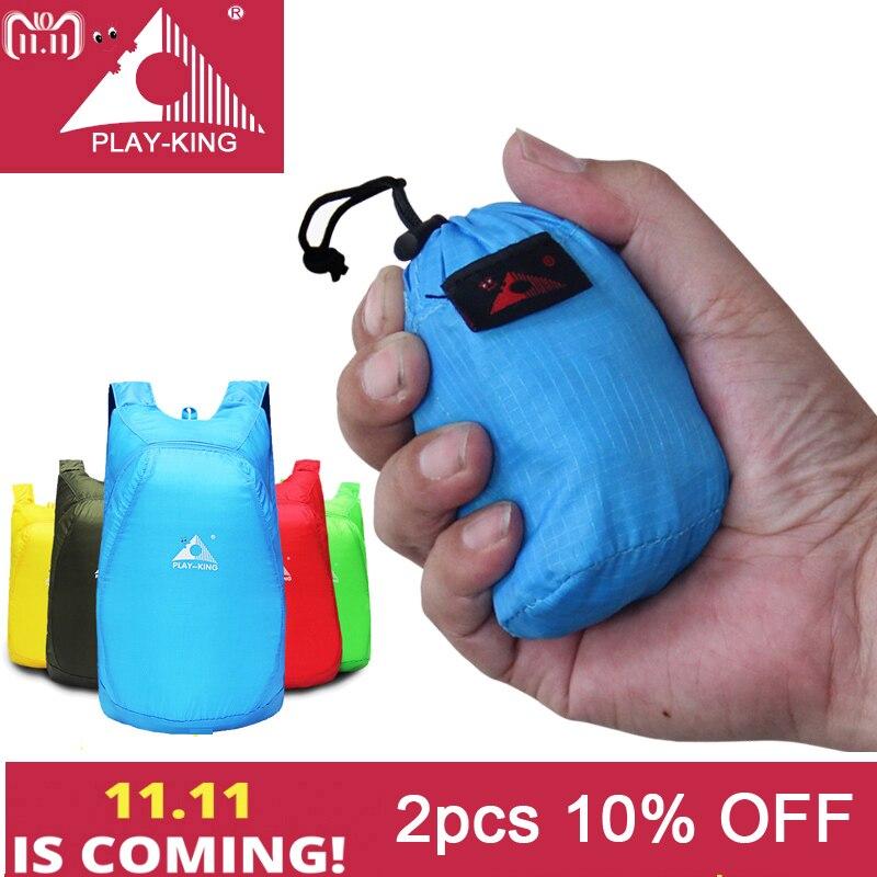 PLAYKING Lightweight Nylon Foldable Backpack Waterproof Backpack Folding bag Ultralight Outdoor Pack for Women Men Travel Hiking цена