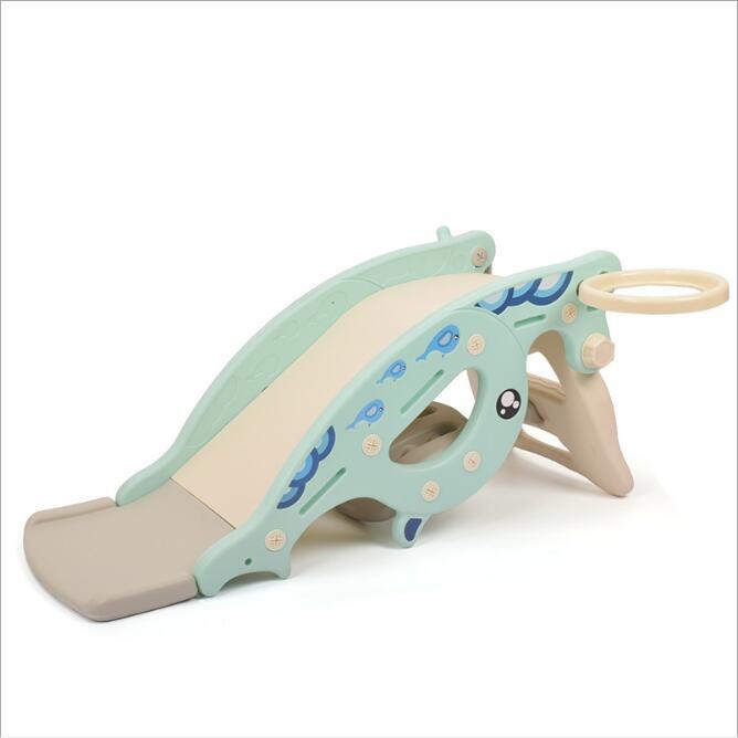 Nouveau bébé videur cheval à bascule toboggan double usage 3 en 1 jouet pour enfants bébé toboggan virole multi-fonction jouets pour enfants en plein air - 5